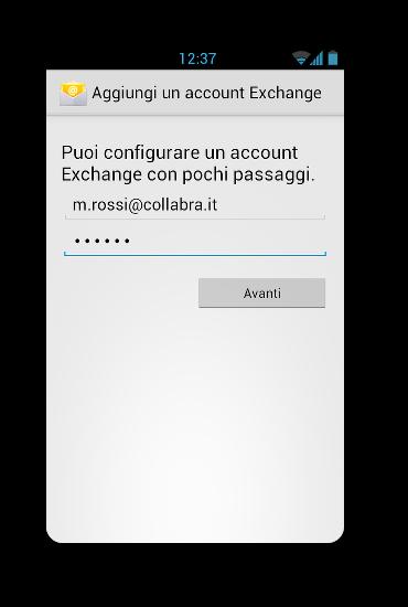 android exchange setup 3