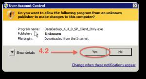 Backup installazione windows 4.2