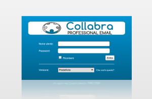 Modulo di login Webmail Collabra - Posta Elettronica Aziendale