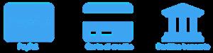 pagamento PayPal, Carta di credito, Bonifico bancario